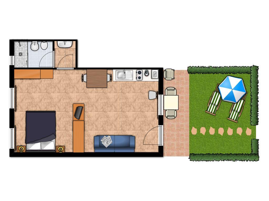 Awesome vacanze casa fertonani clicca per ingrandire with for Disegnare la pianta del piano di casa
